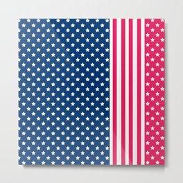 Abstract Patriotic pattern . Metal Print