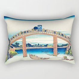 The Bridge Art River Tardis Rectangular Pillow