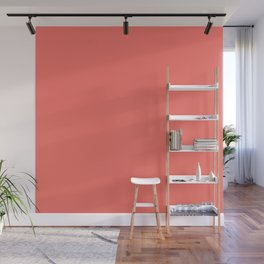 Living Coral Pantone Solid Color Block Wall Mural