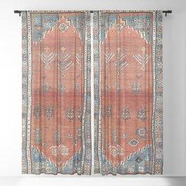 Bakhshaish Azerbaijan Northwest Persian Carpet Print Sheer Curtain