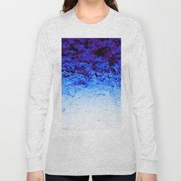 Indigo Blue Crystal Ombre Long Sleeve T-shirt