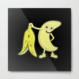 Naked Banana Metal Print