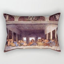 The Last Supper by Leonardo da Vinci Rectangular Pillow