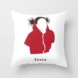 Ilana Wexler wearing a dog hoodie Throw Pillow