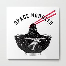 Space Noodles Metal Print