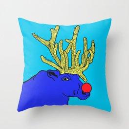 Rudolph The Red Nose Raindeer Throw Pillow