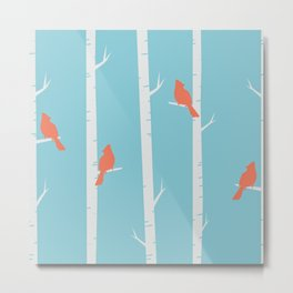 Birds on the Branches Metal Print