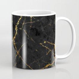 Gold Glitter and Black marble Coffee Mug