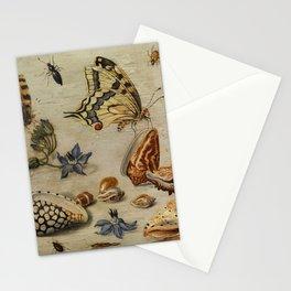 "Jan van Kessel de Oude ""Seashells, butterflies, flowers and insects"" Stationery Cards"