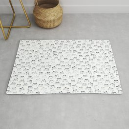 Black and White Cat-mouflage Rug