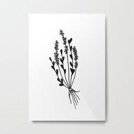 Dried Lavender Bunch Metal Print