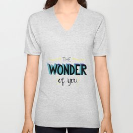 The Wonder of You - Blue and Yellow Unisex V-Neck