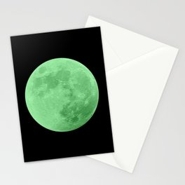 LIME MOON // BLACK SKY Stationery Cards