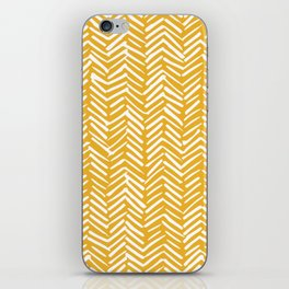 Boho Mudcloth Pattern, Summer Yellow iPhone Skin