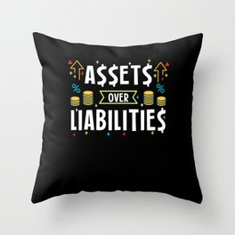 Assets Over Liabilities For Accountants Throw Pillow