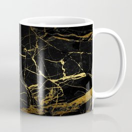 Black-Gold Marble Impress Coffee Mug