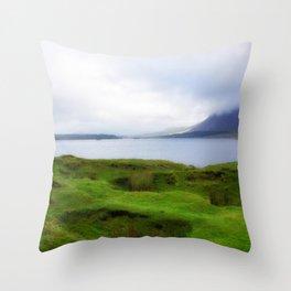 green grass carpet Throw Pillow