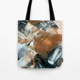 Chocolate Kisses [2]: A bold, minimal, abstract piece in pink, gold, brown, black and white Tote Bag