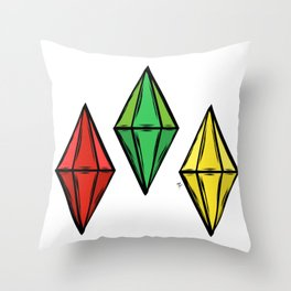 Plumbobs Throw Pillow
