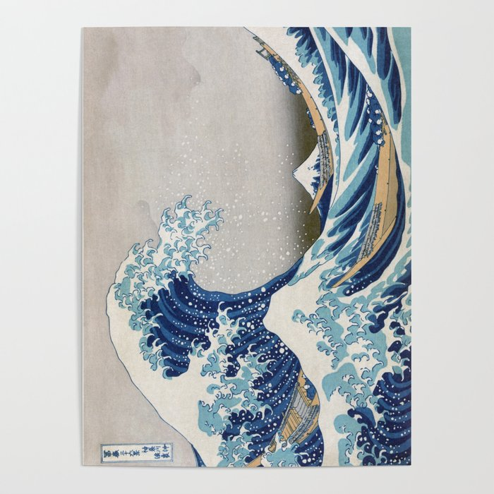 Under the Wave off Kanagawa Japanese Art Poster