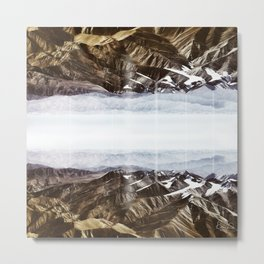 Surreal moutain reflection Metal Print