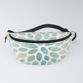 Floral Bloom, Abstract Watercolor, Coral, Peach, Green, Floral Prints Fanny Pack