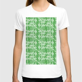 Bamboo Rainfall in Sullivan Green/White T-shirt