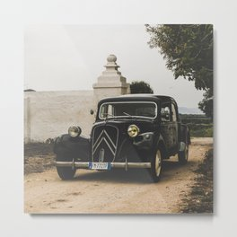 French car, fine art photography, Traction Avant, old auto, classic car, supercar, old car print Metal Print