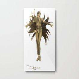 Josephine Baker Feather Costume Metal Print