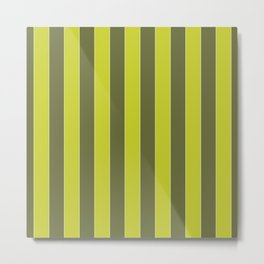 THICK, OLIVE AND CHARTREUSE Metal Print