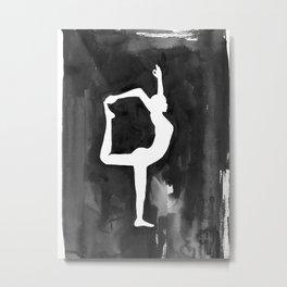 Dancer Pose - Yoga Metal Print