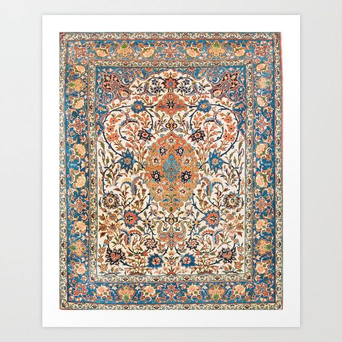 Isfahan Antique Central Persian Carpet Print Kunstdrucke