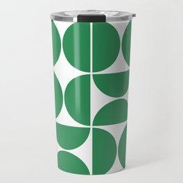 Mid Century Modern Geometric 04 Green Travel Mug