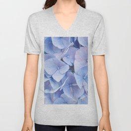 Blue Hydrangeas #3 #decor #art #society6 Unisex V-Neck