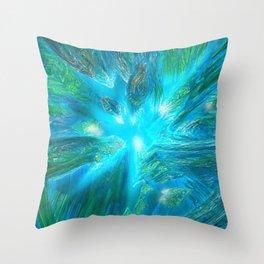 Warp in Blue Throw Pillow