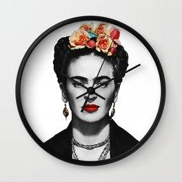 Mexican Beauty Portrait Artwork for Women Men and Kids Wall Clock