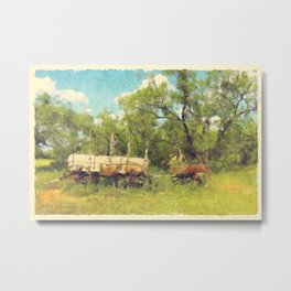 Army Wagon and Mule c.1840s Metal Print
