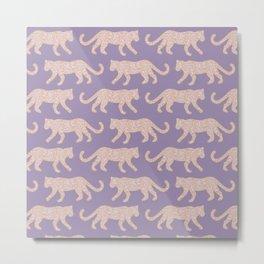 Kitty Parade - Pink on Lavender Metal Print