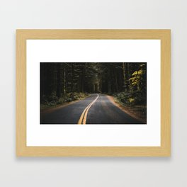 Washington road Framed Art Print