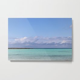 Caribbean Clouds Metal Print