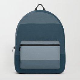 Minimal Retro Sunset / Sunrise - Ocean Blue Backpack