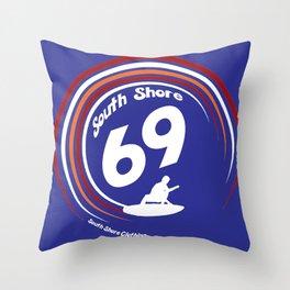 South Shore 69' Surfing Design Throw Pillow