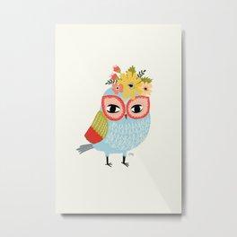 Helga Owl Metal Print