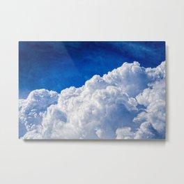 White Cumulus Clouds In The Blue Sky Metal Print