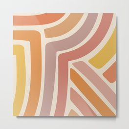 Abstract Stripes IV Metal Print