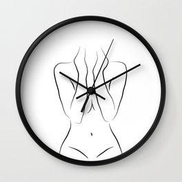 Naked Girl Drawing - Zara at 18 Wall Clock