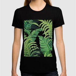 Green tropical leaves II T-shirt
