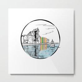 Water reflection Gdansk Metal Print