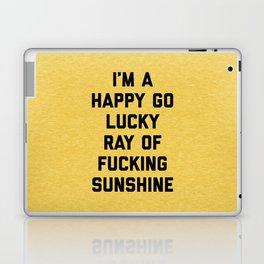 Ray Of Fucking Sunshine Funny Quote Laptop & iPad Skin