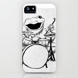 Drumming Frog iPhone Case